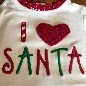 Baby Girl I Love Santa LS Tee w/Leggings Size 18 M